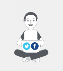 Community manager Facebook & Twitter